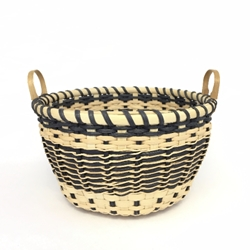 Black & White Star Basket black & white star basket, black and white star basket, star basket, betty bain, basket, weaving