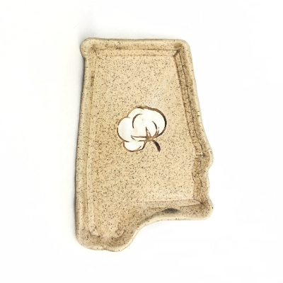 Earthquake Pottery Alabama Cotton Tray ceramic, pottery, tray, alabama, earthquake pottery