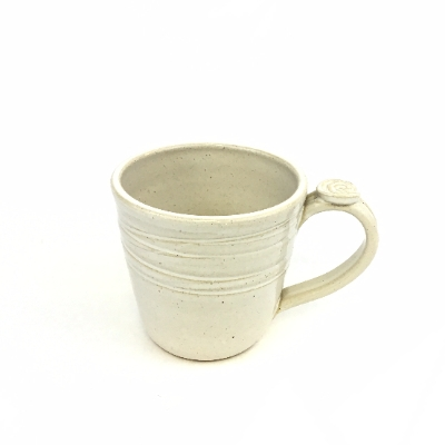 Earthquake Pottery Coffee Cup with Thumb Rest ceramics, pottery, mug, coffee mug, coffee cup, earthquake pottery