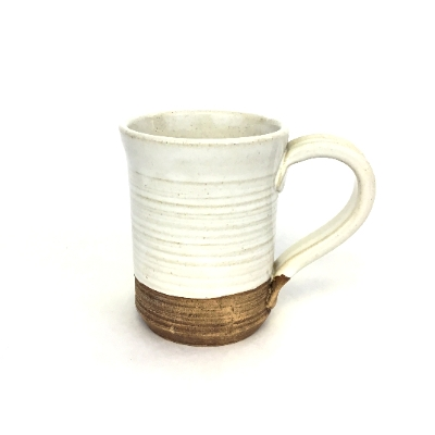 Earthquake Pottery Large White Mug ceramics, pottery, mug, coffee mug, coffee cup, earthquake pottery