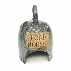 Earthquake Pottery Toad House Toad House, Earthquake Pottery, Becky Blaylock