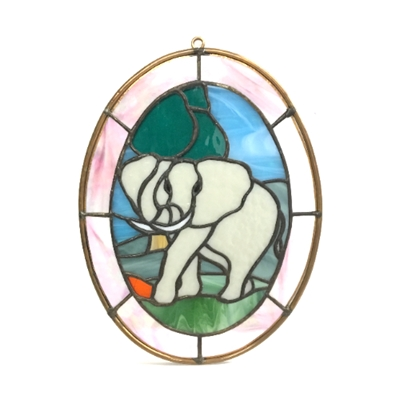 """Elephant"" Stained Glass elephant stained glass, stained glass, elephant, tyree mccloud, glass"
