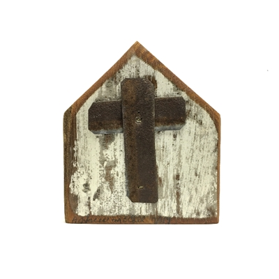 Flat Church Cross Plaque church, wall hanging, barn wood, reclaimed wood, andrew mccall