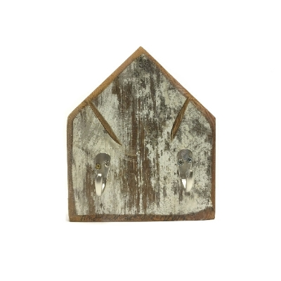 Flat Church Keyholder wall hanging, barn wood, barnwood, andrew mccall, key hanger, hook, hooks,