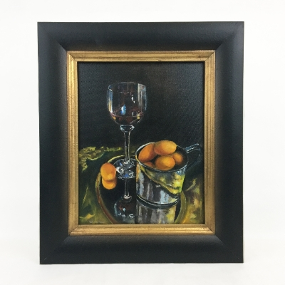 """Fruit with Wine"" Oil Painting Lolita Dickinson, Wilcox County, black belt treasures, oil painting, fruit with wine"