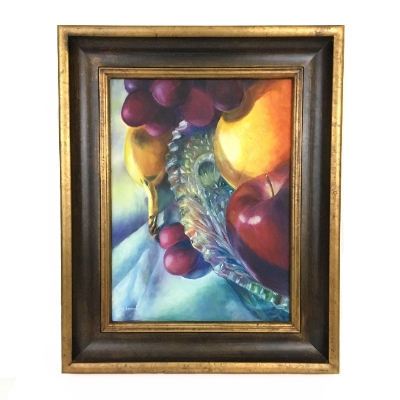 Marilyn Ammons Granny S Bowl With Fruit Oil Painting 7354