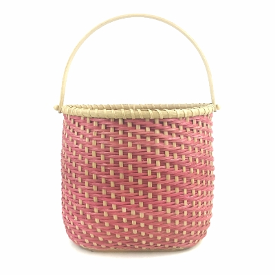 Oblong Twill Tote Basket basket, hand crafted, woven