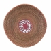 Pine Needle Basket with Red Filigree Insert  - 10249