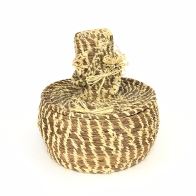 Pine Straw Basket with Hat pine, straw basket, hat, Mary, Hicks