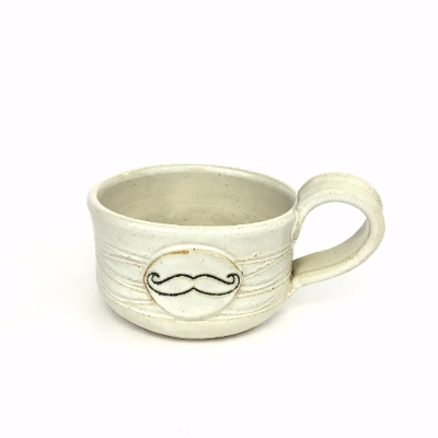 Shaving Mug shaving mug, ceramic, ceramics, pottery, earthquake pottery