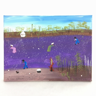 """The Long Afternoon"" 12x16 folk art, painting, acrylic, wall art"