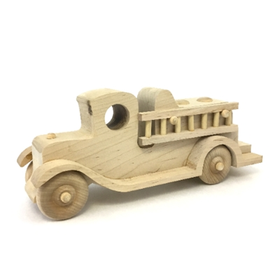 Wooden Fire Truck wooden truck, wood carving, wood toy, wooden toy