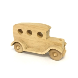 "Wooden ""Old Sedan"" with Three Holes"