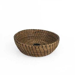Black Walnut Pine Needle Basket pine needle basket, basket, woven art,