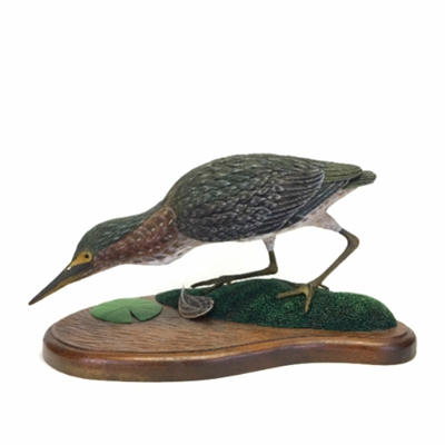 Hand Carved Green Heron green, heron, heron, bird, hand carved, handcarved, carving, woodwork