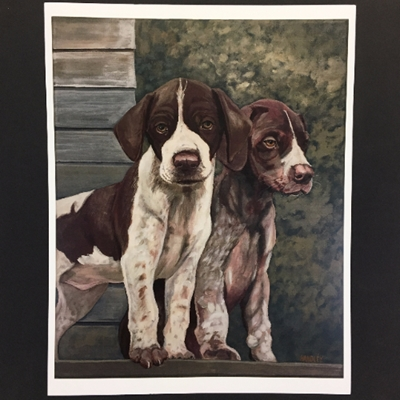 Mike Handley Print print, art for the wall, painting, dog, puppy, dogs, puppies,