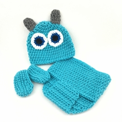 Monsters Inc Baby Outfit- Sully baby outfit, baby, crochet, baby costume