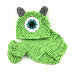 Monsters Inc Baby Outfit- Mike baby outfit, baby, crochet, baby costume
