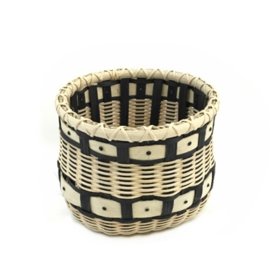 Seeing Dots Basket basket, weaving, woven, white oak,