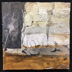Composition in Neutral mixed media, painting, wall art, collage